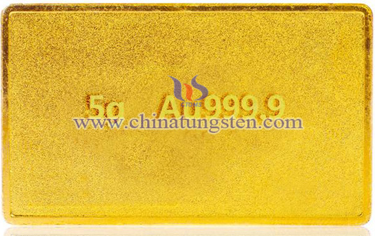 gold-plated tungsten bar for Christmas