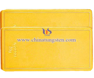 gold-plated tungsten brick for Thanksgiving Day