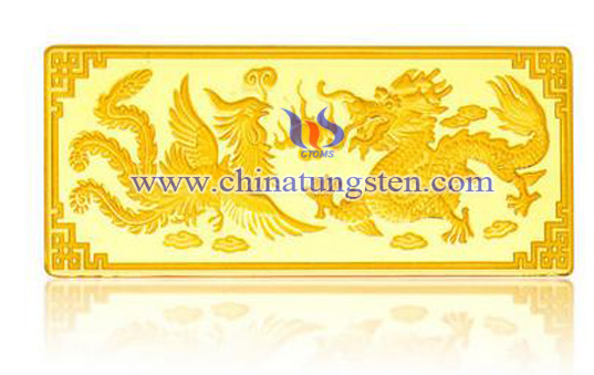 gold-plated tungsten block for wedding gifts
