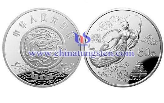 gold-plated tungsten coin for Moon Festival