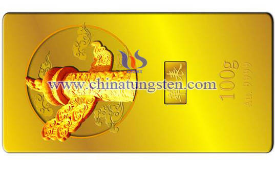 gold-plated tungsten brick for National Day