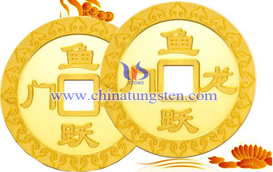 gold-plated tungsten coin for adult ceremony