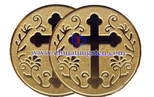 gold-plated tungsten coin for christianity