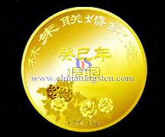 gold-plated tungsten coin for Father's Day