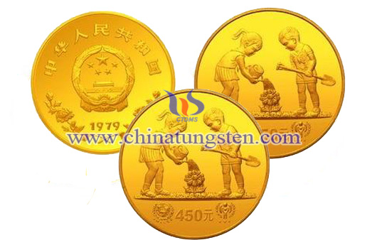 gold-plated tungsten coin for Labor Day
