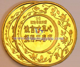 gold-plated tungsten coin for Mother's Day