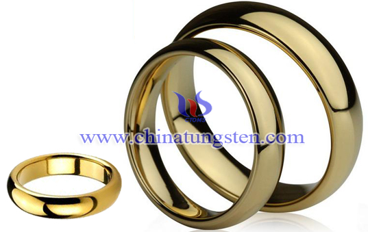 gold-plated tungsten lovers' rings