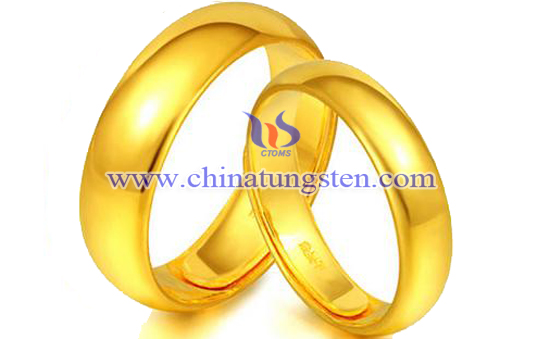 gold-plated tungsten rings for Valentine's Day