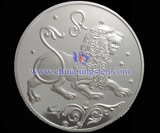 Leo tungsten gold-plated coin