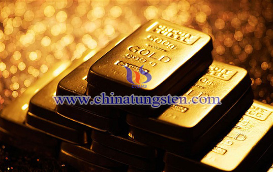 tungsten gold bar for engineering investigation