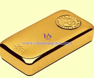tungsten gold bar for foundation commemoration