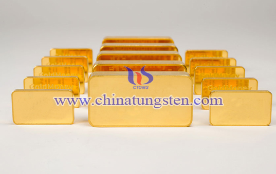 tungsten gold bar for scientific research commendation