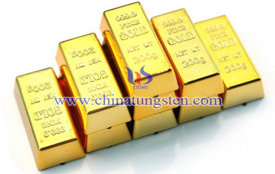tungsten gold bar for summit commemoration