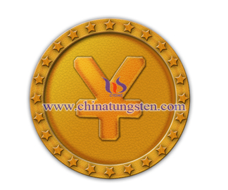 tungsten gold coin for company listed anniversary