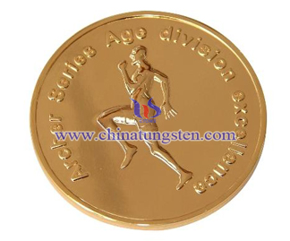 tungsten gold commemorative coin for Marathon