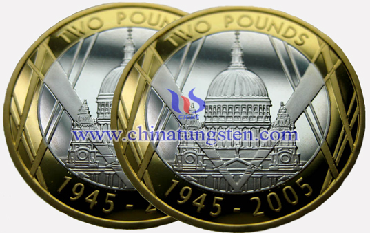 tungsten gold commemorative coin for World War II