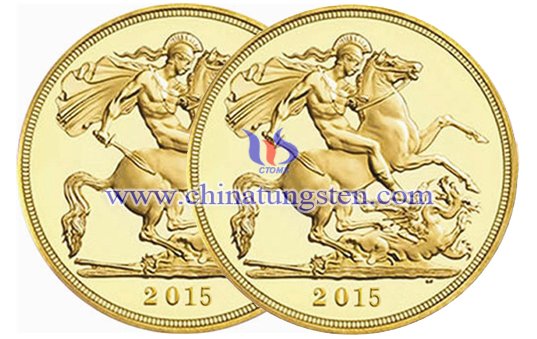 tungsten gold memorial coin for war veteran
