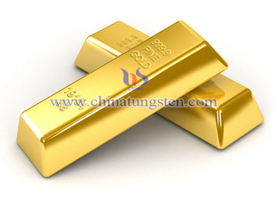 tungsten gold plated bar for bank VIP