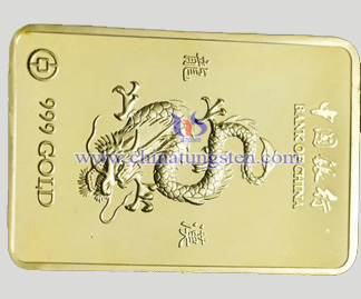 tungsten gold-plated bar for bank fund