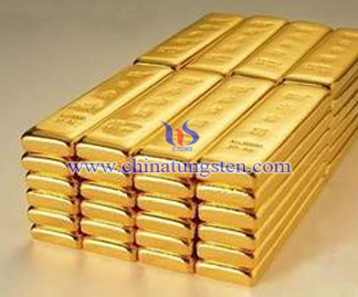 tungsten gold-plated bar for bank exhibition substitution