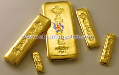 tungsten gold plated bar for New Year celebration