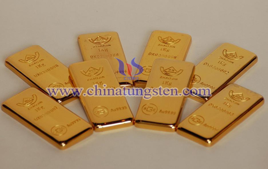 tungsten gold plated bar for real estate