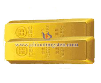 tungsten gold-plated brick for gold detection