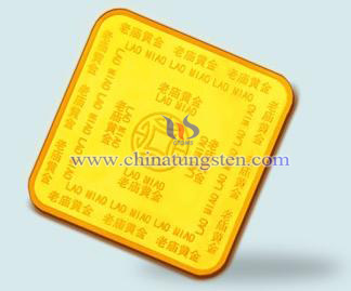 tungsten gold-plated brick for performance prop