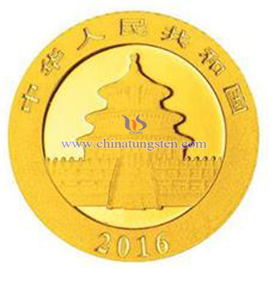 tungsten gold plated coin for bank VIP