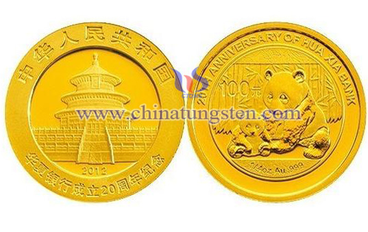 tungsten gold plated coin for bank credit card bonus point