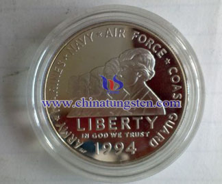 tungsten gold plated coin for enlisting commemoration