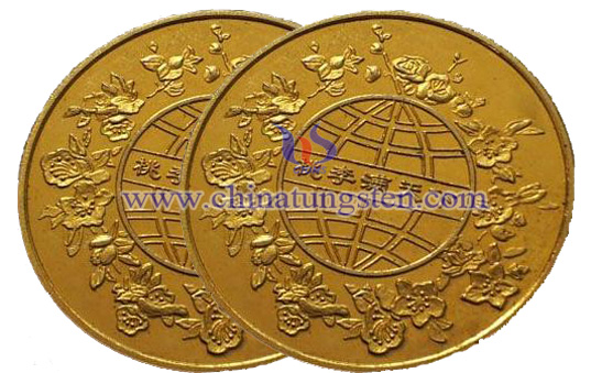 tungsten gold-plated coin for graduation ceremony