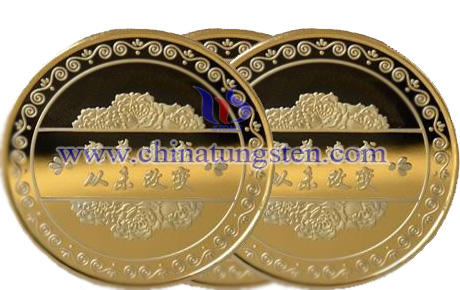 tungsten gold-plated coin for musicale