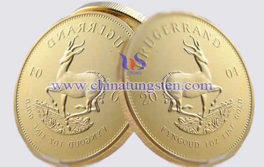 tungsten gold-plated coin for party