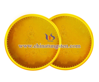 tungsten gold plated coin for railway operation commemoration