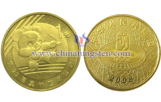 tungsten gold-plated coin for sports meeting