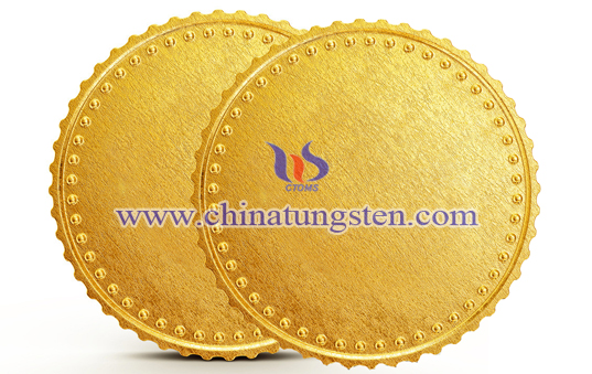 tungsten gold plated medal for Olympics
