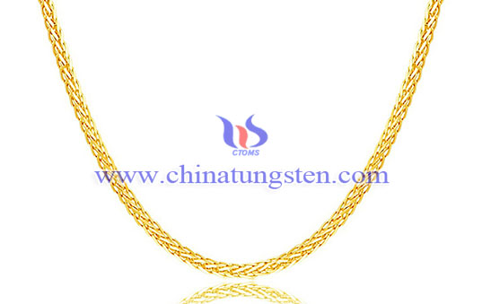 tungsten gold-plated necklace for Valentines' Day