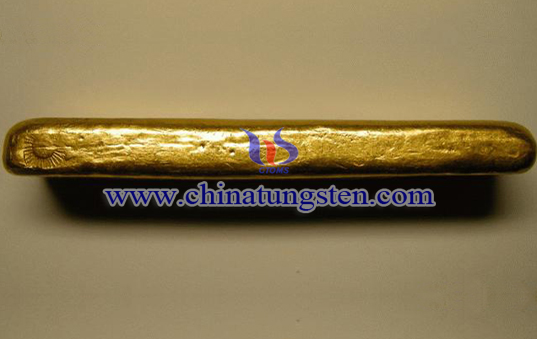 tungsten gold plated paperweight