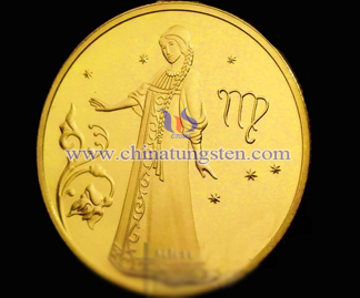 Virgo tungsten gold-plated coin
